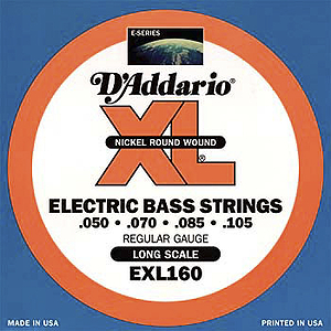 D'Addario XL Bass Strings - Regular strings, Environmental Packaging - 1 set of strings