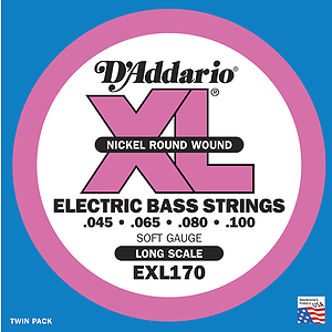 D'Addario XL Bass Strings - Soft strings - 1 set of strings