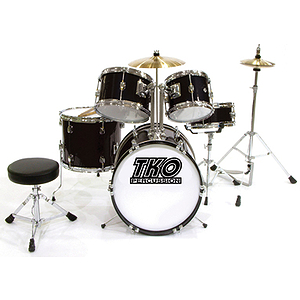TKO 5-Piece Junior Drum Set - Black Finish