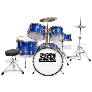 TKO 5-Piece Junior Drum Set - Blue Finish