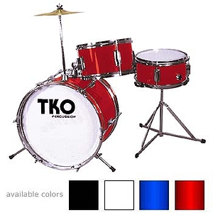 TKO 3-piece Junior Drum Set with Throne - Black Finish