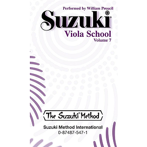 Suzuki Viola School, Cassette Volume 7, Performed By William Preucil