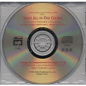 Alfred's Adult All-In-One Piano Course - Level 1 - CD