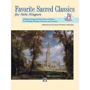 Favorite Sacred Classics for Solo Singers - Book/CD (Medium High)