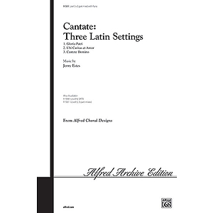 Cantate: Three Latin Settings - 3-Part Mixed