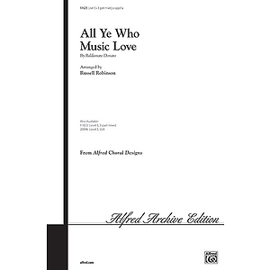 All Ye Who Music Love - 3-Part Mixed, A Cappella