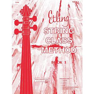 Etling String Class Method, Book 1: Viola