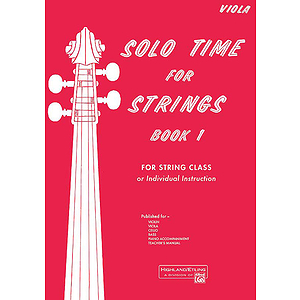 Solo Time for Strings, Book 1: Viola