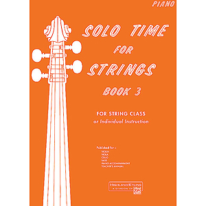 Solo Time for Strings, Book 3: Piano Accompaniment