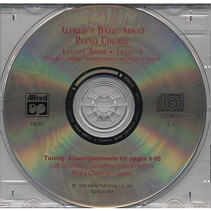Alfred&#039;s Basic Adult Piano Course - Lesson Book Level 1, CD Only