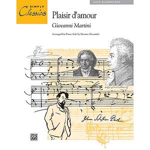 Plasir D' Amour - Simply Classics Solos