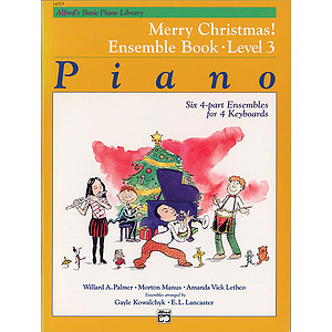Alfred&#039;s Basic Piano Course - Merry Christmas! Ensemble Book Level 3