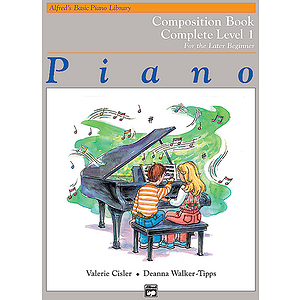 Alfred's Basic Piano Course - Composition Book Complete Level 1 (1A/1B)