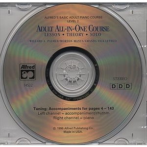 Alfred's Adult All-In-One Piano Course - Level 2 - CD