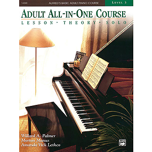 Alfred's Adult All-In-One Piano Course - Level 3 - Book
