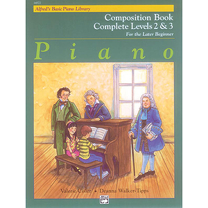 Alfred's Basic Piano Course - Composition Book Complete Level 2 & 3