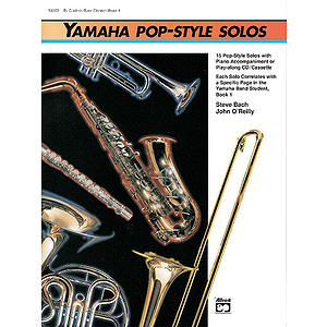 Yamaha Pop-Style Solos: Alto Sax, Baritone Sax - Book Only
