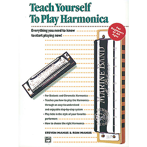 Alfred&#039;s Teach Yourself To Play Harmonica - Book, Harmonica &amp; Enhanced CD