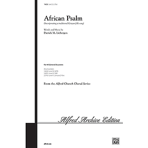 African Psalm (Incorporating A Traditional Kenyan Folk Song) - 2-Part W/Optional Flute