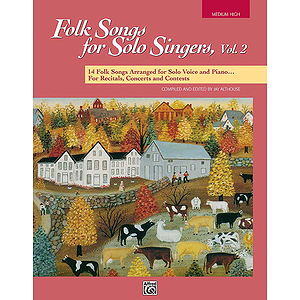Folk Songs for Solo Singers - Vol. 2, Medium High - Book