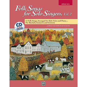 Folk Songs for Solo Singers - Vol. 2, Medium High - Book & CD
