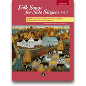 Folk Songs for Solo Singers, Vol. 2 - Compact Disc Only (Medium High)