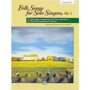Folk Songs for Solo Singers - Vol. 1, Medium High - Book & CD
