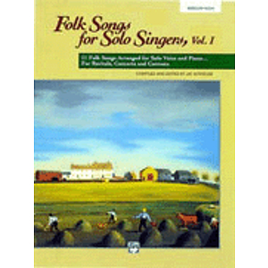 Folk Songs for Solo Singers, Vol. 1 - Compact Disc Only (Medium High)