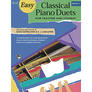 Easy Classical Piano Duets for Teacher and Student (1P, 4H) - Book 3