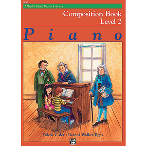Alfred's Basic Piano Course - Composition Book Level 2