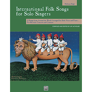 International Folk Songs for Solo Singers - Book (Medium High)