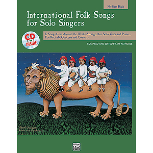International Folk Songs for Solo Singers - Book and CD (Medium High)