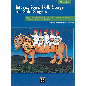 International Folk Songs for Solo Singers - Book and CD (Medium Low)