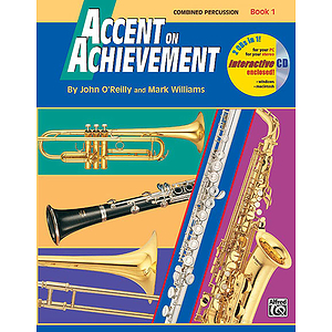 Accent on Achievement, Book 1: Combined Percussion - S.D., B.D., Access. and Mallet Percussion