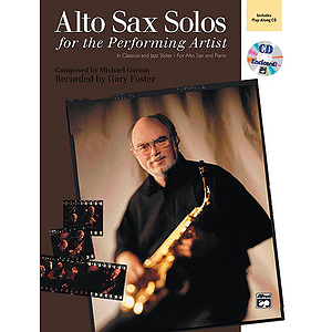 Alto Sax Solos for The Performing Artist - Book & CD