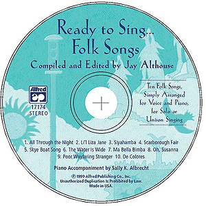 Ready To Sing… Folk Songs - CD