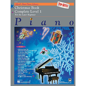 Alfred's Basic Piano Course - Top Hits! Christmas Book Complete Level 1