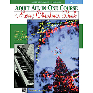 Alfred's Adult All-In-One Piano Course - Merry Christmas Book (Level 1)