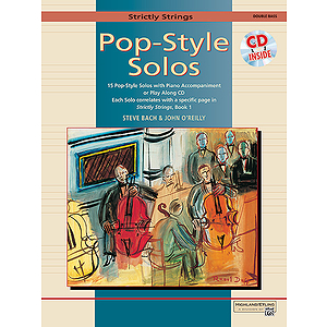 Strictly Strings Pop-Style Solos Bass - Book &amp; CD