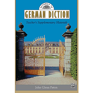Gateway To German Diction - Teacher's Supplementary Materials