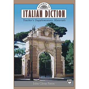 Gateway To Italian Diction - Teacher's Supplementary Materials