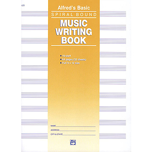 Music Writing Book - 9 X 12, 10 Staves, 64 Pages