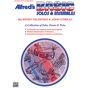 Alfred's Basic Solos and Ensembles, Book 2 - Percussion, Snare Drum, Bass Drum, and Accessories