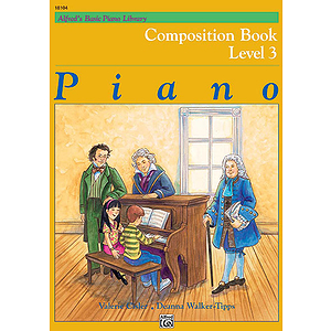 Alfred's Basic Piano Course - Composition Book Level 3