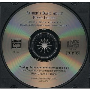 Alfred's Basic Adult Piano Course - Lesson Book Level 2, CD Only
