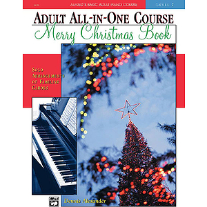 Alfred's Adult All-In-One Piano Course - Christmas Piano Book - Level 2