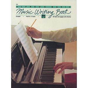 Music Writing Book - 9 X 12, 12 Staves, 64 Pages