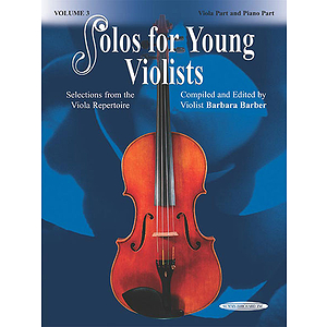Solos for Young Violists Volume 3, Viola and Piano