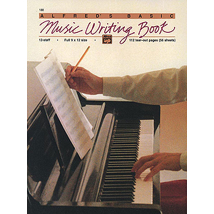 Music Writing Book - 9 X 12, 12 Staves, 112 Pages