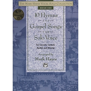 10 Hymns and Gospel Songs for Solo Voice - Medium High - Book & CD